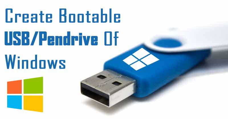 how to create a bootable pendrive